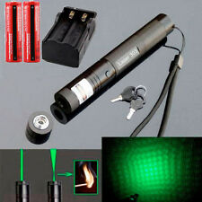 532nm 10 Mile 5mw 303 Green Laser Pointer Lazer Pen Beam Light +2*18650+Charger