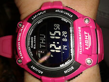 Casio tough solar DEEP PINK watch PRO RUNNING g shock ILLUMINATOR montre uhr NEW