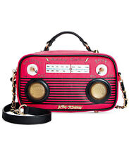 Betsey Johnson HERE COMES TREBLE KITSCH BOOM BOX RADIO BJ60005H FUCHSIA