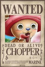"""ONE PIECE """"Wanted Chopper"""" Poster 52cm 38cm  NEW"""
