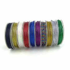 10 X 10m  Christmas Card Craft Gift Cord - String  0.8mm gift tag thread