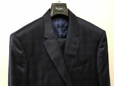 Paul Smith PRINCE OF WALES CHECK Navy Blue London BYARD Tailored Fit UK44R