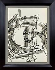 Jean-Paul RIOPELLE Original COLOR Lithograph LIMITED Ed. 1974 + Archival FRAME