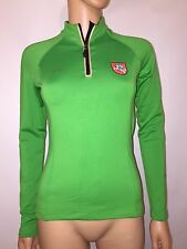 AUDIMAS Women's GREEN Lithuanian Olympic Team 1/4 Zip Pullover Sweater SMALL
