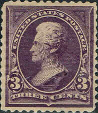 #268 1895 3 CENT JACKSON BUREAU ISSUE MINT-OG/NH-VF