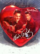 """NEW 2002 ELVIS PRESLEY """"RED JACKET W/GUITAR"""" RUSSELL STOVER HEART CANDY TIN"""