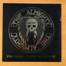 "THE ALMIGHTY  ""Blood, Fire & Love ""- Vinyl Lp 12"" -Polydor ‎ 841 347 1- 1989 UK"