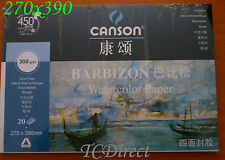 Canson Drawing Painting Watercolor Pad, 20 sheets, 270mmx390mm 8k 1.6x A4 300gsm