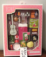 "Lori Doll Camping & Carefree food Cooler Guitar Glamper RV Accessories 6"" NEW!"