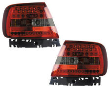 Back Rear Tail Lights Lamps Replace Red-Black LED Pair For Audi A4 B5 11/94-9/00