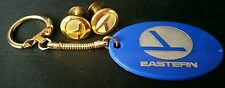 Vintage EASTERN AIRLINES UNIFORM/HAT Buttons & Keychain Aviation Transportation
