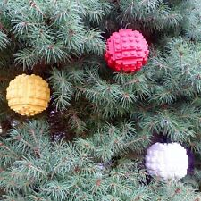 *! Three Genuine Medium Lego Christmas Tree Baubles Decoration !!
