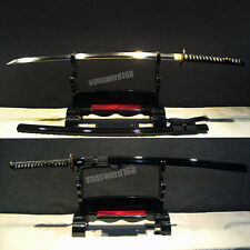 T10 Clay tempered handmade japanese samurai katana sword real CHOJI hamon sharp.