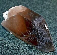 Black Smoky Quartz Crystal With Light White Small Phantom, China