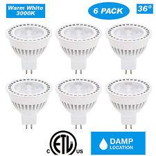 CloudyBay12V MR16 LED Spot Light Bulb, 3000K White 36D Beam, 6W 500lm (6 Pack)