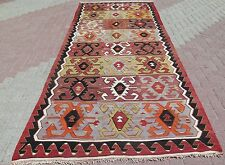 "Vintage Turkish Wool Kilim Rug,Antalya Rug 61"" x 141,7   "" Area Rug,Carpet,Kelim"