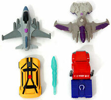 Transformers Happy Meal Optimus Prime Megatron Bumblebee Starscream Lot ~ryokan