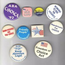 10 Vintage FEMINIST pin FEMINISM Women Issues PRO CHOICE Reproductive Rights Etc