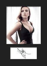 SCARLETT JOHANSSON #1 A5 Signed Mounted Photo Print - FREE DELIVERY