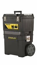 Stanley 193968 Mobile Work Center ToolBox Chest Trolley Wheels Storage