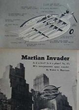 """Flying Saucer Stunt Combat Airplane 15"""" diameter 1956 How-To build PLANS"""