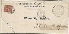 P4084    Ferrara, PIEVE di CENTO doppio cerchio 1876