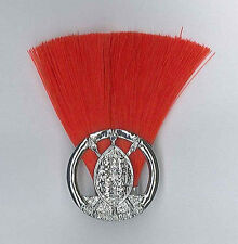 SCOUTS OF SWAZILAND ASSISTANT SCOUT LEADER (RED COLOUR) Metal Plume / Hat Patch