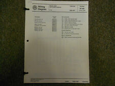 1986 1989 VW Cabriolet Stereo Radio A/C SUPP Wiring Diagram Service Manual OEM