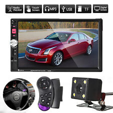 7'' Autoradio Touch Screen Bluetooth 2Din MP5 FM USB TF+Auto Camera+2 Controller