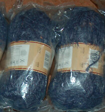 NEW 2x100g Fab Eyelash Slate Blue Knitting Crochet Wool Yarn Soft Fluffy Baby
