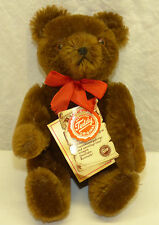 "1980s Jointed Hermann Mohair Teddy Bear 8"" 20cm Germany Signed by Family"