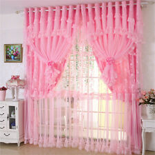 curtains tulle Korean Romantic Princess lace  sheer curtain tulle panel