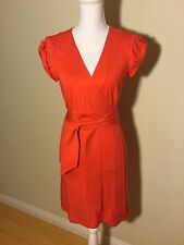 Diane Von Furstenberg DVF Maia Wrap Valentine's Day Dress Size Small Bright Red