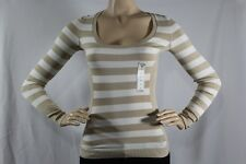 100% AUTHENTIC NEW WOMENS GUESS T-SHIRTS CICI STRIPED SWEATER LONG SLEEVE SZ XS