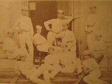 ANTIQUE 1869 BEAUMONT CRICKET 11 ETON CDV EARLIEST UK TEAM PHOTO? BLACK? PLAYER