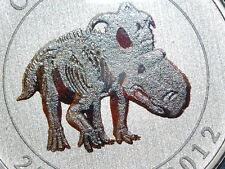 2012 Canada Coloured Glow-in the dark Dinosaur 25 Cents Coin