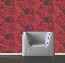 Luxary Designer Muriva  Madison 119502 Red  Rose Floral Bloom  Wallpaper New!!