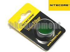 NiteCore NFG25 25.4mm Green Lens Cap Filter for EA1 EA2 EC1 EC2 MH1A Flashlight