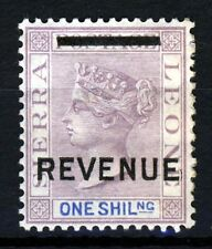 SIERRA LEONE Queen Victoria 1s. Mauve & Blue Overprinted REVENUE MINT