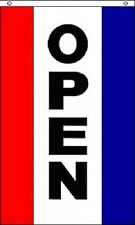 (Lot of 2) 3x5 Vertical Open Flag Sign Flag 3'x5' 5'x3' Banner Grommets