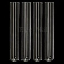 "4Pcs 150 mm Pyrex Glass Blowing Tubes 6"" Inch Long  2 mm Thick Wall Test Tube"