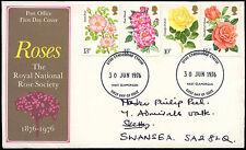 GB FDC 1976 Roses, West Glamorgan FDI #C23248