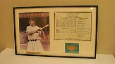 NYY Lou Gehrig Dream Team 12 x 20 Framed Picture with Career Stats #115436