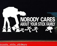 Funny Aussie BNS Camping Fishing Car 4x4 ute Stickers STAR WARS MY FAMILY