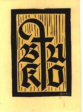 EX-LIBRIS  de J. C. BUSER-KOBLER, pour son usage. Suisse.