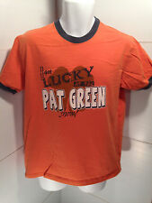 """Pat Greene """"I Got Lucky at the Pat Green Show"""" Concert Ringer T Shirt Size Small"""