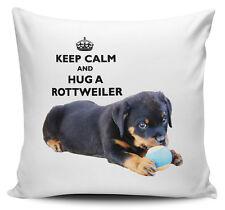 Keep Calm And Hug A Rottweiler Cushion Cover - 40cm x 40cm