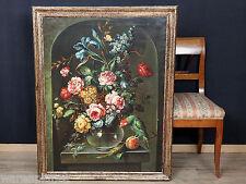 Huile tableau ancien? apparat still vie incontesté perroquet 114x89cm old oil painting