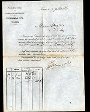 """NEVERS (58) USINE de LAINE & COTONS à tricoter """"DELAUME & POTIN"""" en 1880"""
