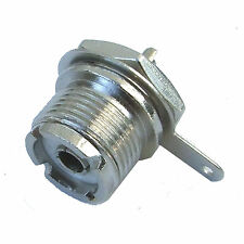 SO239 CHASSIS SOCKET 15.5mm EARTH TAG FOR PL259 PLUG RF VHF UHF AERIAL CONNECTOR